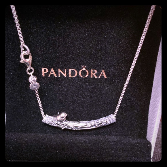 Pandora Bird 17.7 inch silver necklace. BRAND NEW!
